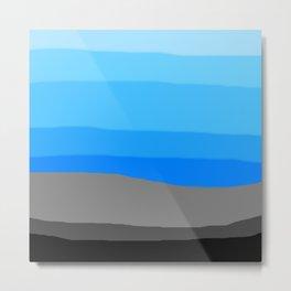 Cool Blue Sunrise Metal Print