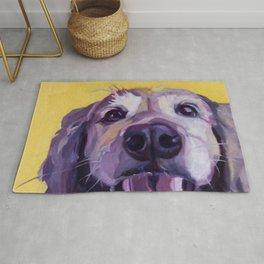 A Dog's Joy Golden Retriever Portrait Rug