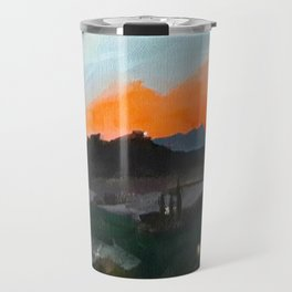 Sunset Over the Superstitions Travel Mug