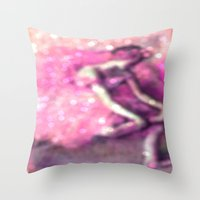 degas Throw Pillows featuring Ballerina by PureVintageLove