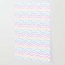 cute colorful hand drawn hearts pattern Wallpaper