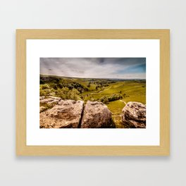 View from Malham Cove Framed Art Print