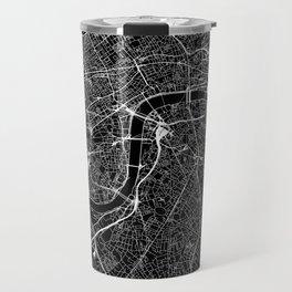 London Black Map Travel Mug