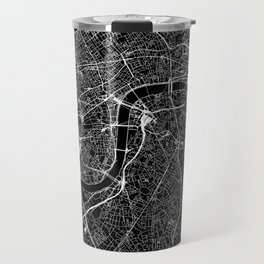 London Black Map Travel Mug