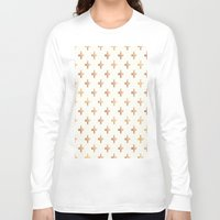 rose gold Long Sleeve T-shirts featuring Rose Gold Pattern by Jenna Davis Designs
