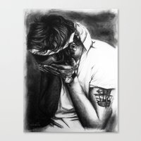cyrilliart Canvas Prints featuring Charcoal Harry by Cyrilliart