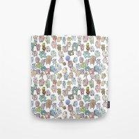 bears Tote Bags featuring Bears by Hannah Drossman