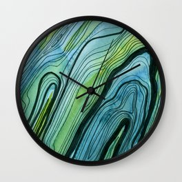 Blue Lace Agate I Wall Clock