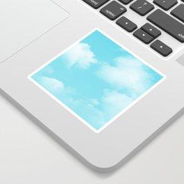 Aqua Blue Clouds Sticker