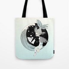 Moonwave (Or the Muse & the Seemingly Eternal Search for Existence in the Sea of Darkness & Dreams) Tote Bag