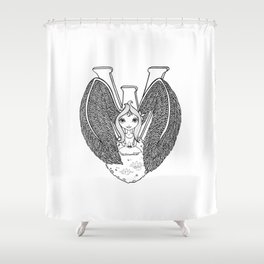 The Letter W Shower Curtain