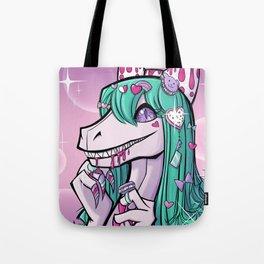 Dino Lolita Girl Tote Bag