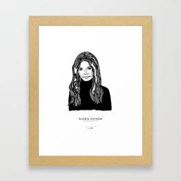 Gloria Steinem Framed Art Print