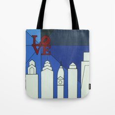 blue LOVE shine Tote Bag