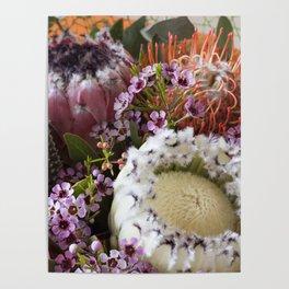 Protea arrangement Poster