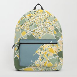 The Hague, The Netherlands, Map Art Backpack