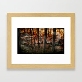 Sky Fire - surreal landscape photography Framed Art Print