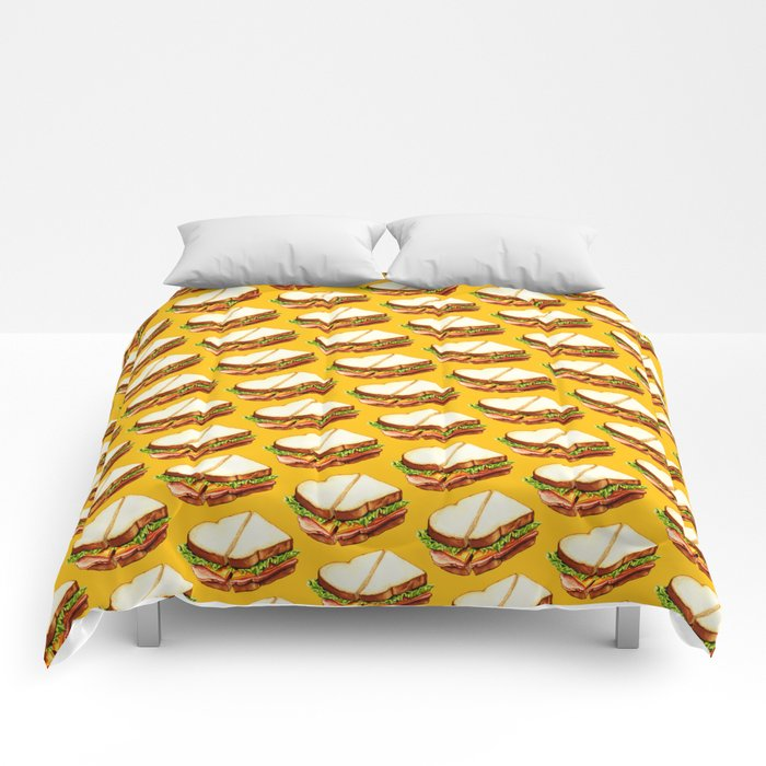 Ham Sandwich Pattern Comforters