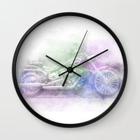 harley Wall Clocks featuring Harley by NKlein Design
