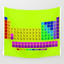 Periodic table of element Wall Tapestry