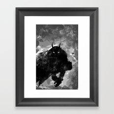 SplatterBatman Framed Art Print