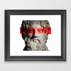 REVERSE SKULL Framed Art Print