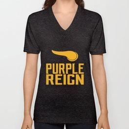 Vikings Purple Reign Football Minnesota T-Shirts Unisex V-Neck