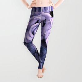 PURPLE ROSES floral flowers violet Leggings