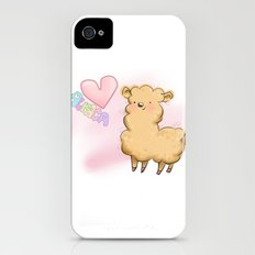 Heart Alpaca Slim Case iPhone (4, 4s)