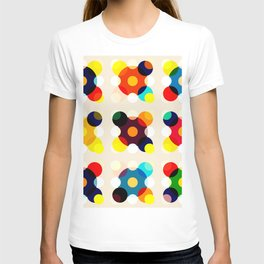 Adlet - Colorful Dots in Star Shape on Beige T-shirt