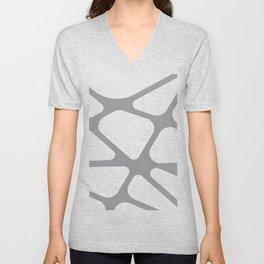 Unique gray and white organic design Unisex V-Neck