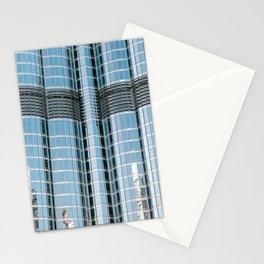 Burj Khalifa reflections   Dubai architecture   Travel photography art print photo Stationery Cards