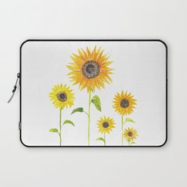 Sunflowers Watercolor Painting Laptop Sleeve