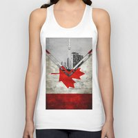 canada Tank Tops featuring Flags - Canada by Ale Ibanez
