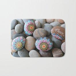 You Rock (mandala flowers) Bath Mat