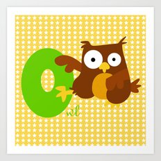 o for owl Art Print