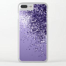 ULTRA VIOLET Glitter Dream #1 #shiny #decor #art #society6 Clear iPhone Case