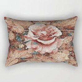 Pink Rose - Painting Style - Art Gift Rectangular Pillow