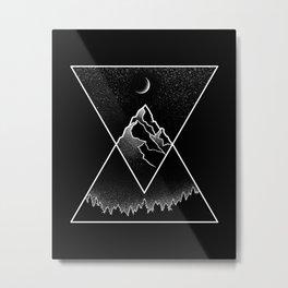 Pyramidal Peaks Metal Print
