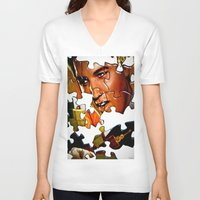 gentleman V-neck T-shirts featuring Gentleman by Rick Staggs