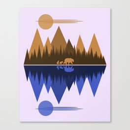Bear & Cubs Canvas Print
