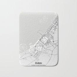 Dubai city map white Bath Mat