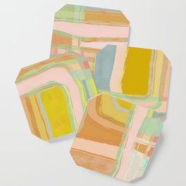 Shapes and Layers no.28 - Modern Squares and Stripes Coaster
