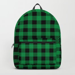 Plaid (green/black) Backpack