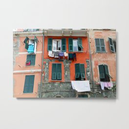 All About Italy. Piece 9 - Vernazza Windows Metal Print