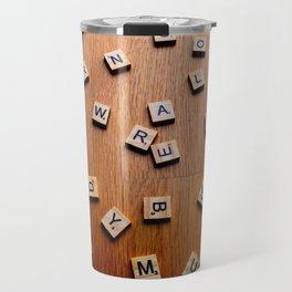 Scrabble letters Travel Mug