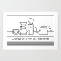A Brew Will See You Through Poster - Chemex Art Print