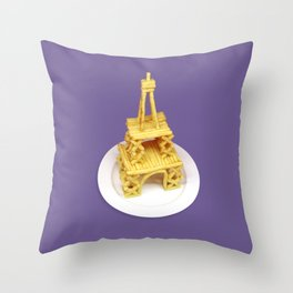French fries // Eiffel Tower Throw Pillow