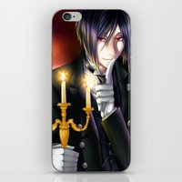 kuroshitsuji iPhone & iPod Skins featuring Goodnight and Sweet Dreams by Cielo+