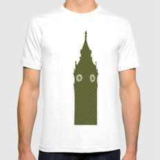 Architecture - Big ben Mens Fitted Tee White MEDIUM